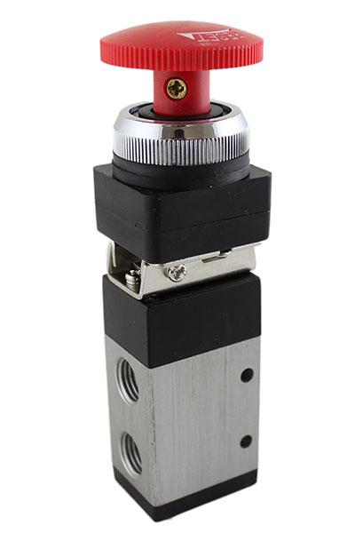 "5-Way//3-Position 1//4/"" NPT Manual Air Control Valve,Hand-pull valve"