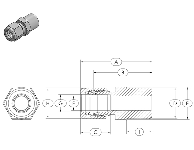 compression fitting specifications bwc butt weld connector. Black Bedroom Furniture Sets. Home Design Ideas