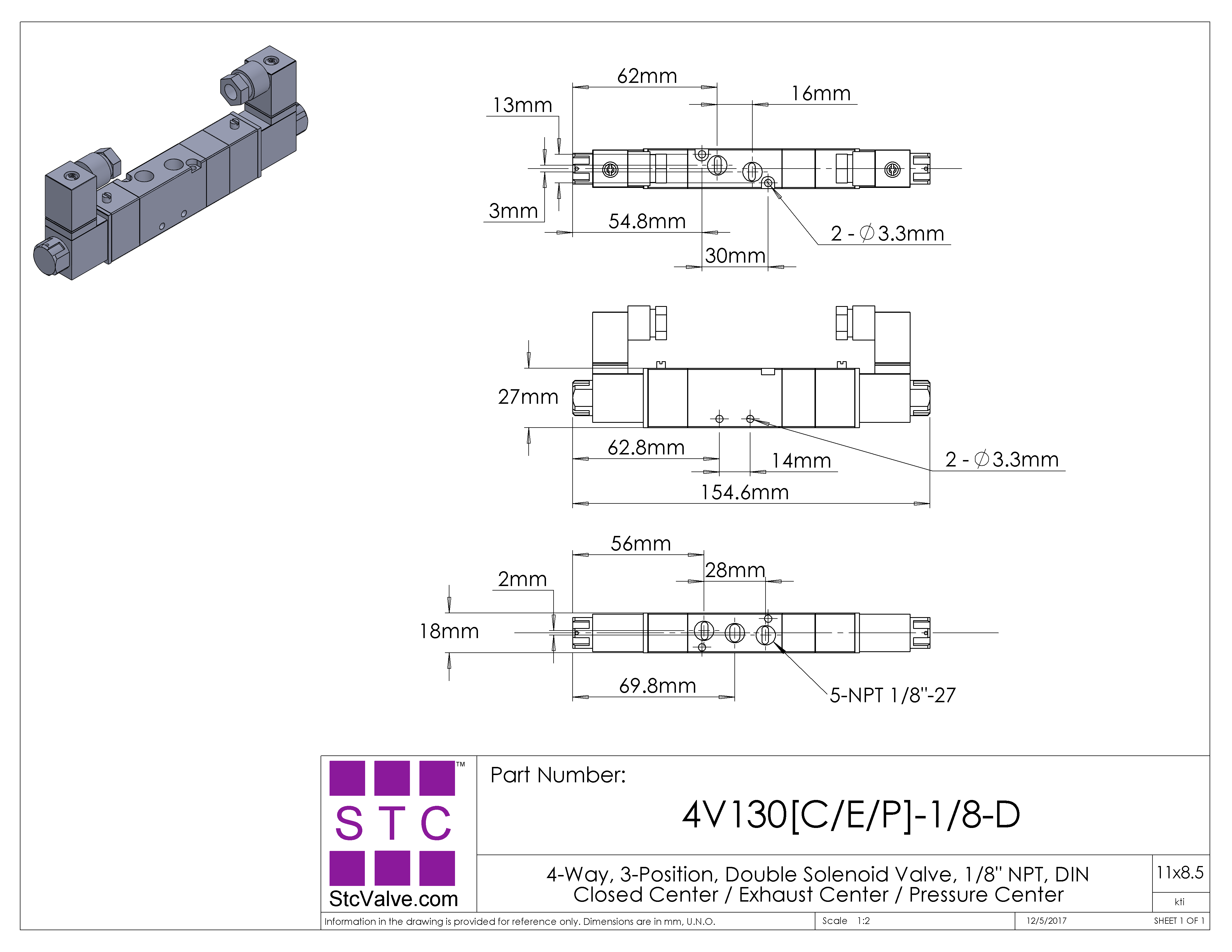 4V130[CEP]-1/8: 4-Way, 3-Position Directional Solenoid Valve on 4-way ball valve diagram, 4-way directional valve, 4-way pneumatic valve, 4-way valve symbol, pilot operated solenoid valve schematic, 4-way air valve schematic, 4-way ball valve schematic,