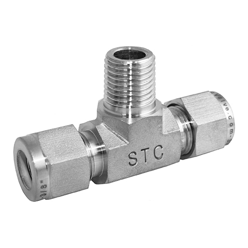 Stainless Steel Branch Tee Compression Tube Fitting