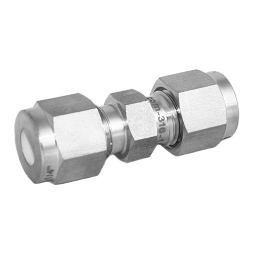 Stainless Steel Straight Union Compression Tube Fitting
