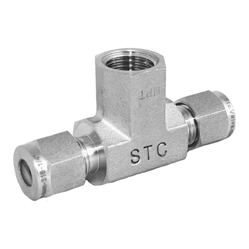 Stainless Steel Female Branch Tee Compression Tube Fitting