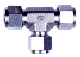 Tee Union Compression Tube Fitting
