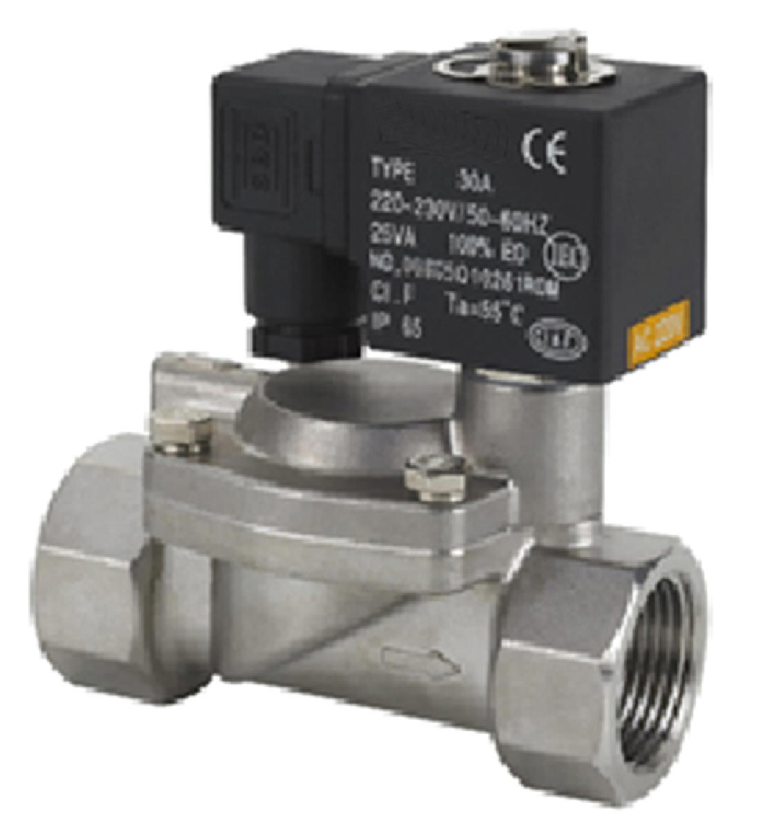 Process Valves Water Solenoid Valve Steam Valve